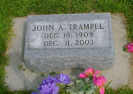 TRAMPEL, JOHN A - Hancock County, Iowa   JOHN A TRAMPEL