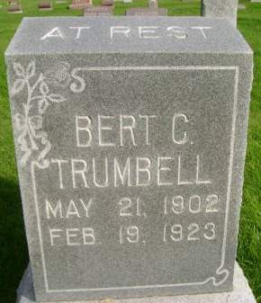 TRUMBELL, BERT C - Hancock County, Iowa | BERT C TRUMBELL