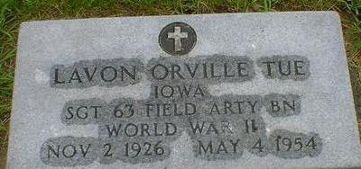 TUE, LAVON ORVILLE - Hancock County, Iowa | LAVON ORVILLE TUE