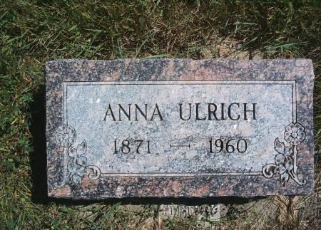 KLOTZBACK ULRICH, ANNA - Hancock County, Iowa   ANNA KLOTZBACK ULRICH