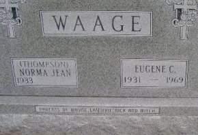 WAAGE, EUGENE C - Hancock County, Iowa | EUGENE C WAAGE