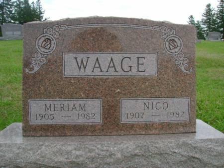WAAGE, NICO - Hancock County, Iowa | NICO WAAGE
