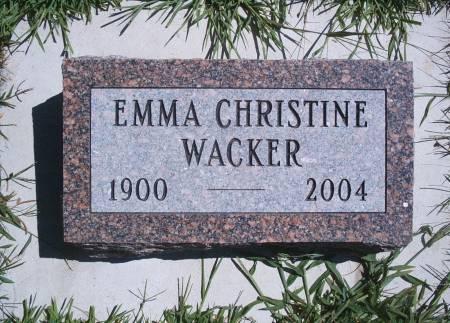 WACKER, EMMA C - Hancock County, Iowa | EMMA C WACKER