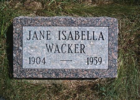 WACKER, JANE I - Hancock County, Iowa | JANE I WACKER