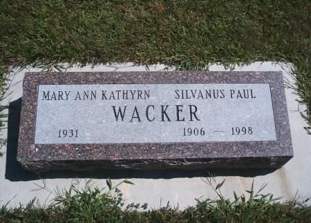 WACKER, SILVANUS P - Hancock County, Iowa | SILVANUS P WACKER