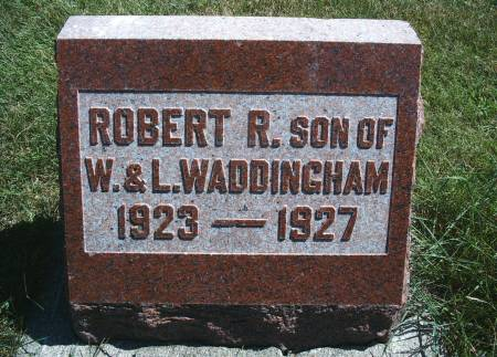 WADDINGHAM, ROBERT R - Hancock County, Iowa   ROBERT R WADDINGHAM