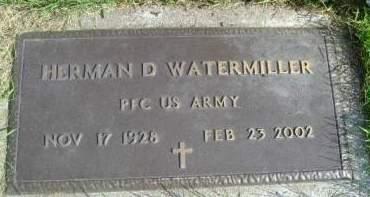WATEMILLER, HERMAN D - Hancock County, Iowa | HERMAN D WATEMILLER