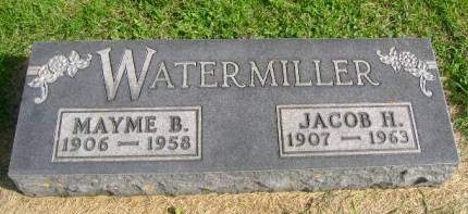 WATERMILLER, JACOB H - Hancock County, Iowa | JACOB H WATERMILLER