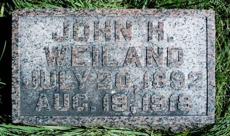WEILAND, JOHN H - Hancock County, Iowa   JOHN H WEILAND