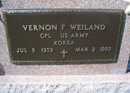 WEILAND, VERNON F - Hancock County, Iowa | VERNON F WEILAND