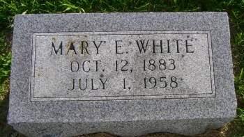 WHITE, MARY E - Hancock County, Iowa   MARY E WHITE