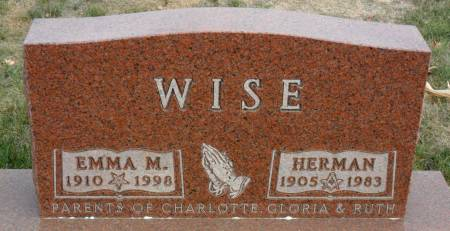 VOSS WISE, EMMA M - Hancock County, Iowa | EMMA M VOSS WISE