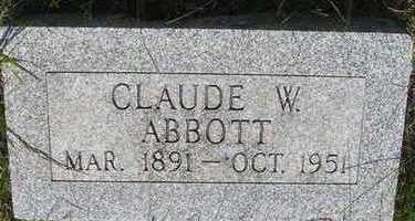 ABBOTT, CLAUDE W - Hardin County, Iowa | CLAUDE W ABBOTT
