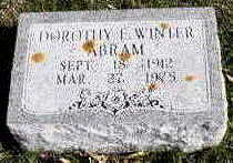 WINTER ABRAM, DOROTHY E. - Hardin County, Iowa | DOROTHY E. WINTER ABRAM