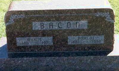 WILSON BACON, MYRTIE - Hardin County, Iowa   MYRTIE WILSON BACON