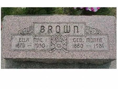 BROWN, GEO MONTIE & ELLA MAE - Hardin County, Iowa | GEO MONTIE & ELLA MAE BROWN