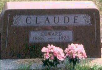 CLAUDE, EDWARD - Hardin County, Iowa   EDWARD CLAUDE