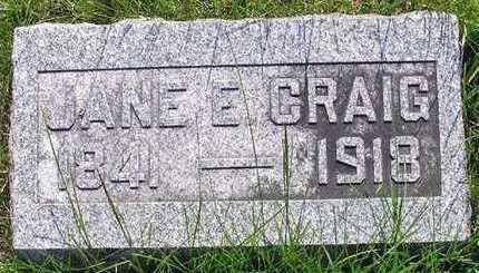 CRAIG, JANE ELIZABETH - Hardin County, Iowa | JANE ELIZABETH CRAIG