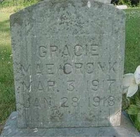 CRONK, GRACIE MAE - Hardin County, Iowa | GRACIE MAE CRONK