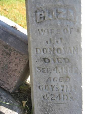 DONOVAN, ELIZA - Hardin County, Iowa   ELIZA DONOVAN