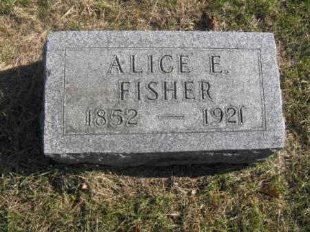 FISHER, ALICE E - Hardin County, Iowa | ALICE E FISHER