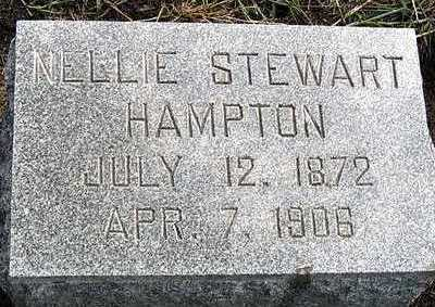 STEWART HAMPTON, NELLIE MAY - Hardin County, Iowa | NELLIE MAY STEWART HAMPTON