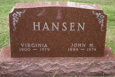 HANSEN, VIRGINIA - Hardin County, Iowa | VIRGINIA HANSEN