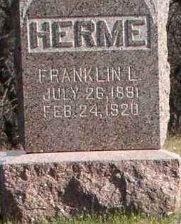 HERME, FRANKLIN L - Hardin County, Iowa | FRANKLIN L HERME
