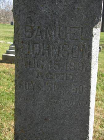 JOHNSON, SAMUEL - Hardin County, Iowa   SAMUEL JOHNSON