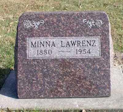 RUNGE LAWRENZ, MINNA - Hardin County, Iowa | MINNA RUNGE LAWRENZ