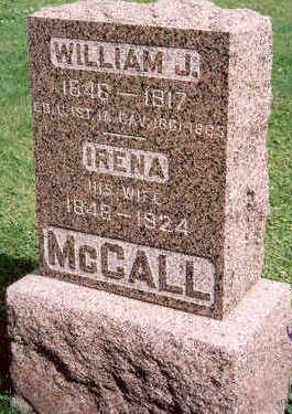 MCCALL, WILLIAM AND IRENA - Hardin County, Iowa   WILLIAM AND IRENA MCCALL
