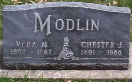 MODLIN, CHESTER J./ VERA MAE (WALKER) - Hardin County, Iowa | CHESTER J./ VERA MAE (WALKER) MODLIN