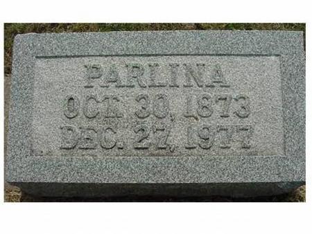PIERCE, PARLINA - Hardin County, Iowa | PARLINA PIERCE