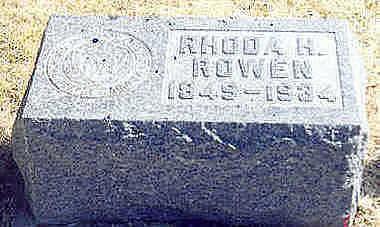 RICKORD ROWEN, RHODA HARRIET - Hardin County, Iowa | RHODA HARRIET RICKORD ROWEN