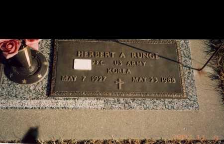 RUNGE, HERBERT A - Hardin County, Iowa | HERBERT A RUNGE