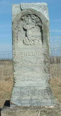SCHNORMEIER, WILHELMINE - Hardin County, Iowa   WILHELMINE SCHNORMEIER