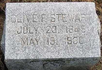 STEWART, OLIVE F. - Hardin County, Iowa | OLIVE F. STEWART