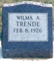 TRENDE, WILMA - Hardin County, Iowa | WILMA TRENDE