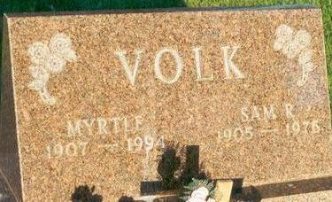 VOLK, MYRTLE - Hardin County, Iowa | MYRTLE VOLK