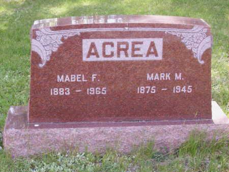 WEATHERLY ACREA, MABEL FRANCES - Harrison County, Iowa | MABEL FRANCES WEATHERLY ACREA