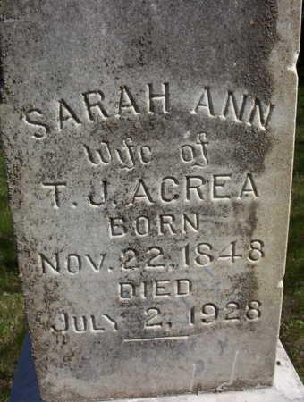 ACREA, SARAH ANN - Harrison County, Iowa | SARAH ANN ACREA