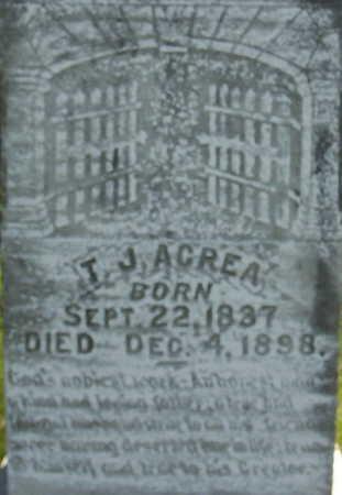 ACREA, THOMAS JACKSON - Harrison County, Iowa | THOMAS JACKSON ACREA