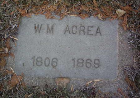 ACREA, WILLIAM M. - Harrison County, Iowa | WILLIAM M. ACREA