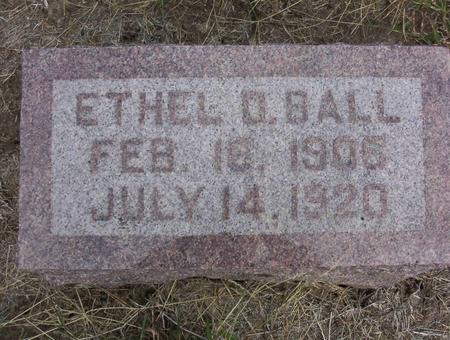 BALL, ETHEL D - Harrison County, Iowa | ETHEL D BALL