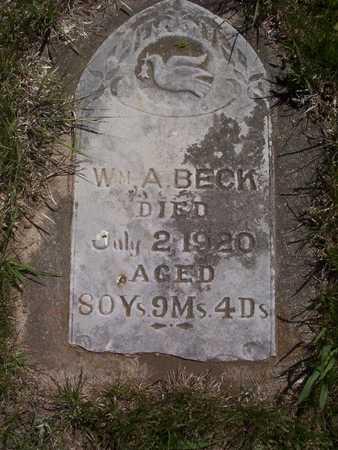 BECK, WILLIAM ALLEN - Harrison County, Iowa | WILLIAM ALLEN BECK