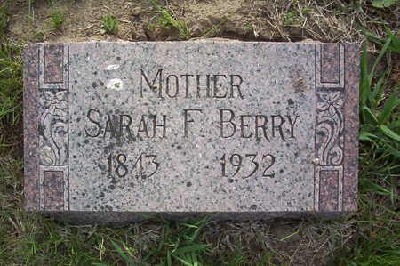 BERRY, SARAH F. - Harrison County, Iowa   SARAH F. BERRY