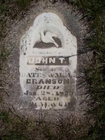 BRANSON, JOHN THOMAS - Harrison County, Iowa | JOHN THOMAS BRANSON