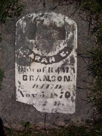 BRANSON, SARAH ESTELLA - Harrison County, Iowa   SARAH ESTELLA BRANSON