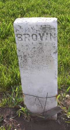 BROWN, BABY - Harrison County, Iowa   BABY BROWN