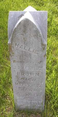 BROWN, HALLIE - Harrison County, Iowa   HALLIE BROWN